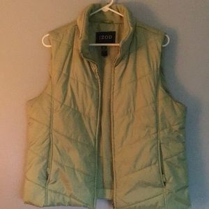 IZOD Ladies light green puffer vest